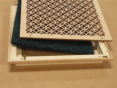 Decorative Wood Wall Vent Return Air Grille Pattern Cut