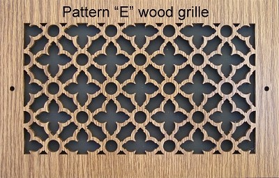Laser Cut Wood Vent Grilles
